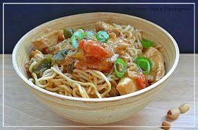 Mit Zucker, Salz & Bauchgefühl: Asia Noodles - mit Erdnuss-Soße und Hähnchenbrust