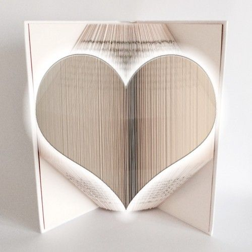 Heart - Book Folding Pattern - 350 Pages/175 Folds Book Folding ...