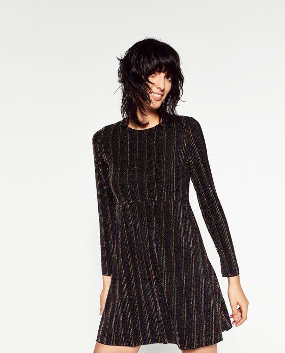 ZARA - WOMAN - SHORT MULTICOLOURED STRIPES DRESS