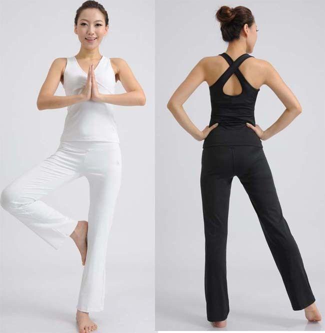 379cce37ed6 Para mujer ropa de yoga yoga conjunto de aerobic y fitness ropa sin mangas  traje deportivo
