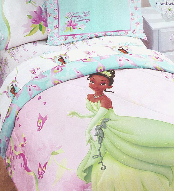 Tiana Princess Frog Bedding Set Disney Comforter Set Twin Bed Twin Size Comforter Princess Tiana Bedding Disney Comforter Sets