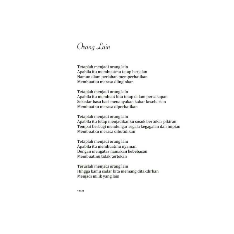 Puisi Pendek Sajak Kumpulan Puisi Puisi By M U Puisi Sajak Kutipan Hidup