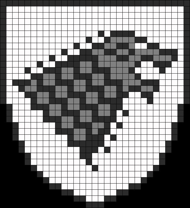 Game Of Thrones Stark Banner perler bead pattern   Crafts