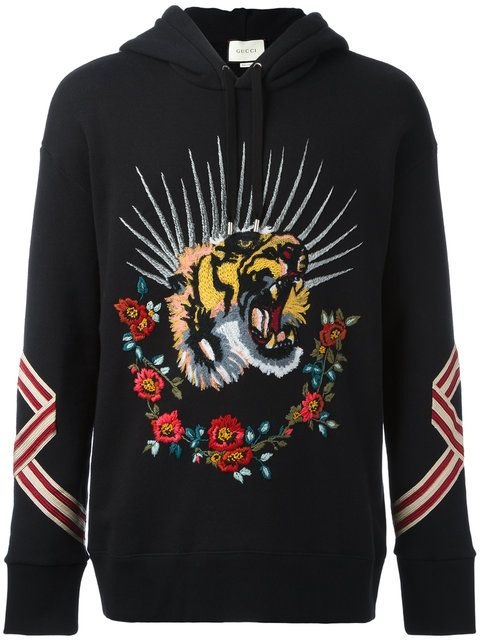 16c27d989e9 GUCCI Tiger Embroidered Hooded Sweatshirt.  gucci  cloth  sweatshirt ...