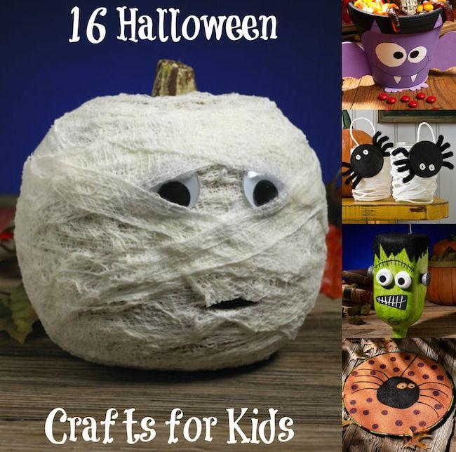 16 Spook-rific Halloween Crafts for Kids Fun halloween crafts - cute easy halloween decorations