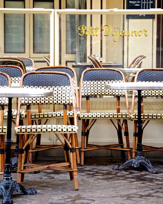 "Paris Photography, ""Petit Dejeuner #2"" Paris Kitchen Art, Yellow Wall Art, Spring Kitchen Decor, Paris Cafe on Etsy, $28.00"