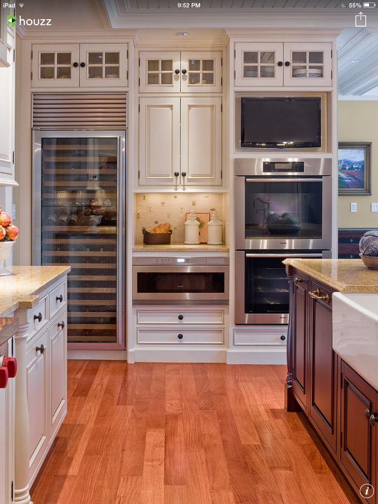 Double oven, warmer, wine, tv  Küchen design, Innenarchitektur