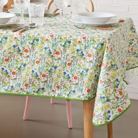 Plastic Coated Floral Tablecloth Tablecloths Napkins