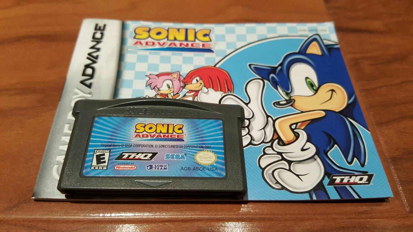 Sonic Advance Nintendo Gameboy Advance Video Game Sonic Advance