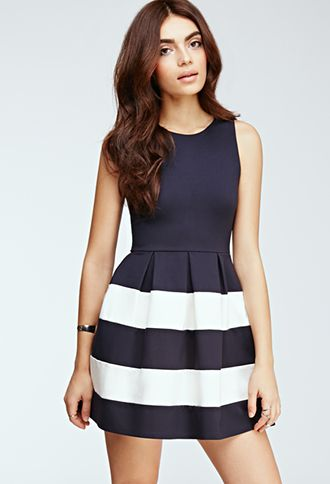 Striped Fit & Flare Dress | FOREVER21 | My style - haves, want and ...