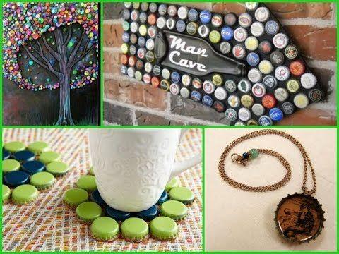 5 25 Creative Diy Bottle Cap Ideas Simple Home Decor Youtube