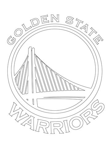Golden State Warriors Logo Coloring Page Golden State Warriors