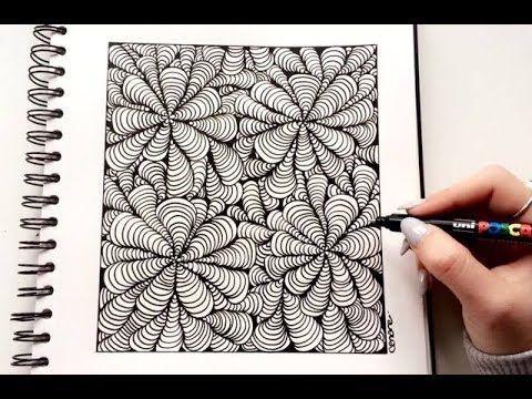 Zentangle Illusion D Optique Facile Zentangle Patterns