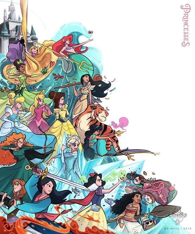 My princesses • • #disneyprincess #princess #Disney # ...