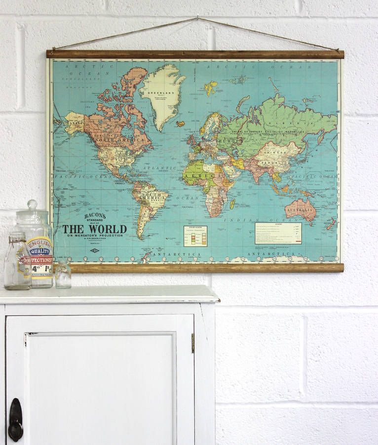 Bacons map of the world wall hanging i think this would look bacons map of the world wall hanging i think this would look great in the gumiabroncs Choice Image