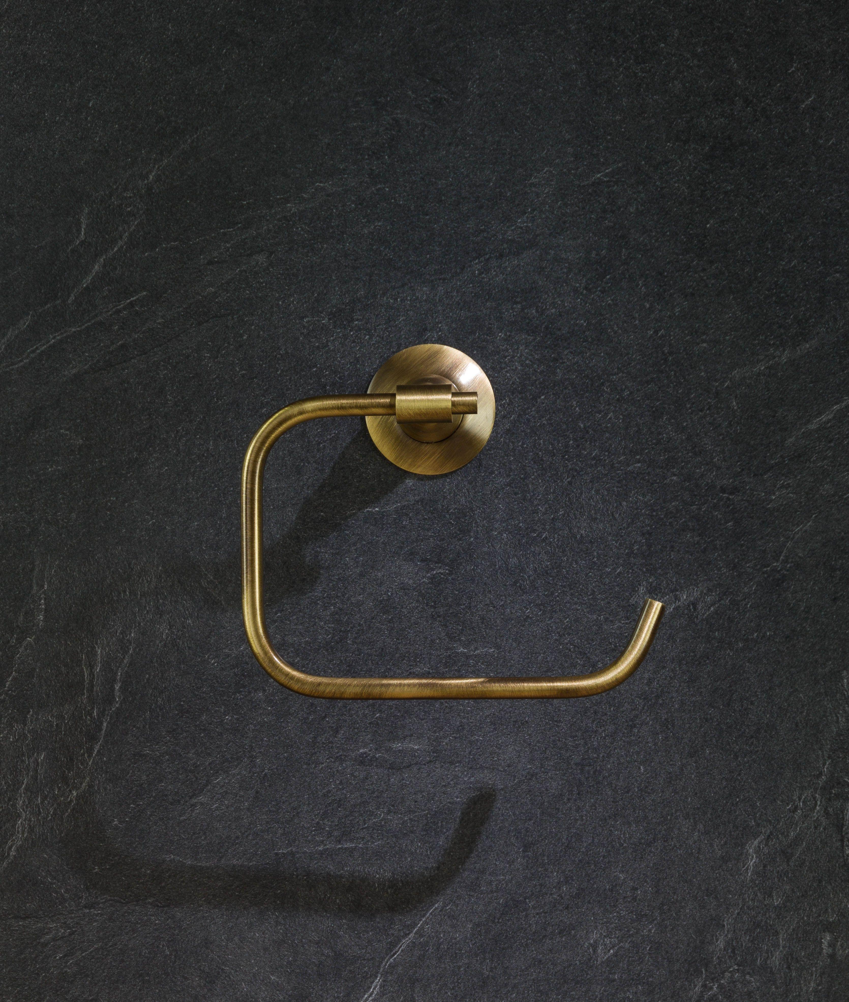 White Salle De Bain Toilet Brush /& Holder Discreet Ceramic Bathroom Set