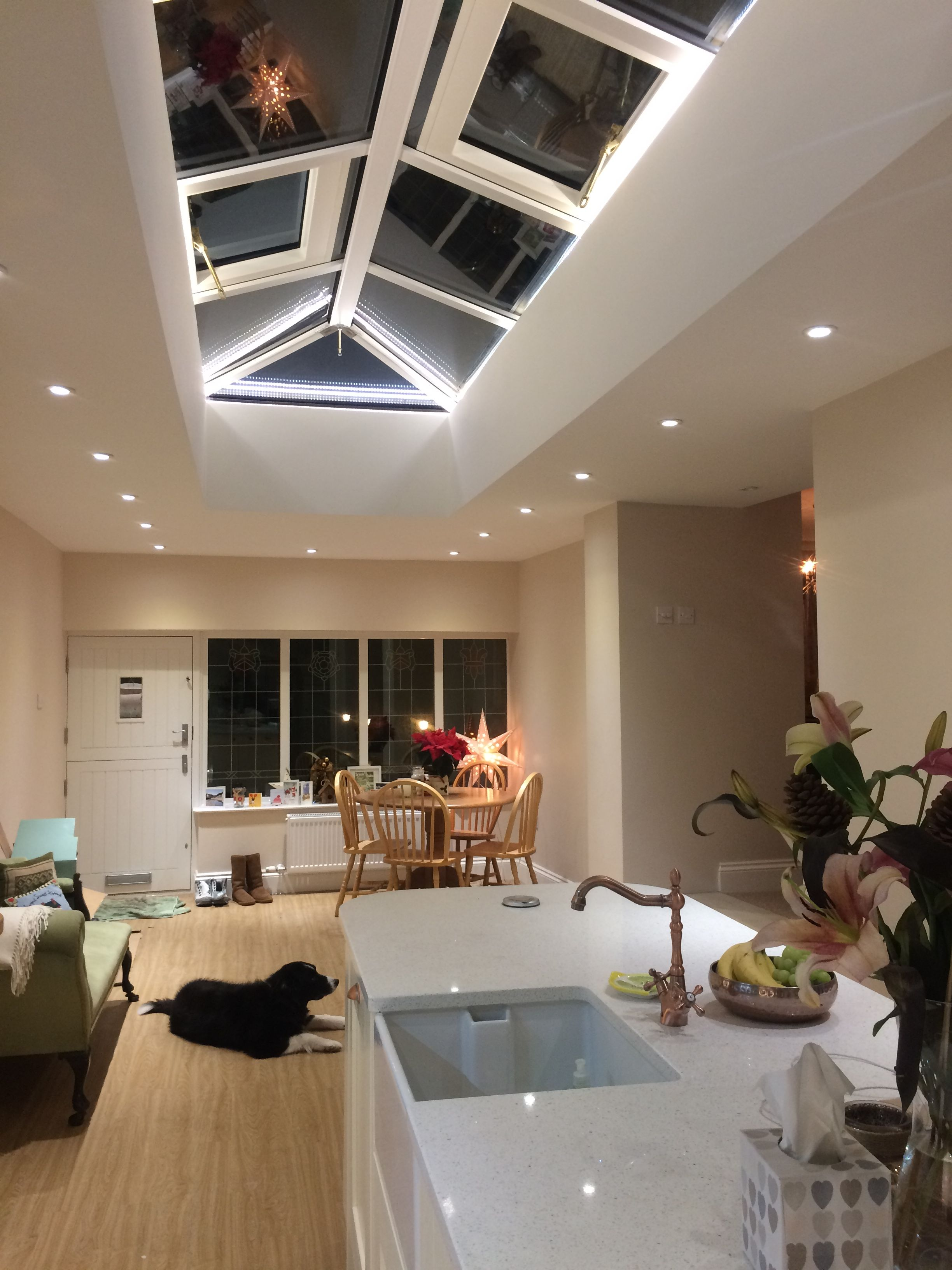 The Roof Lantern Light Has Led Strip Lights Hidden Within It Which Look Fantastic At Night Ceiling Light Design Lighting Design Interior Roof Lantern