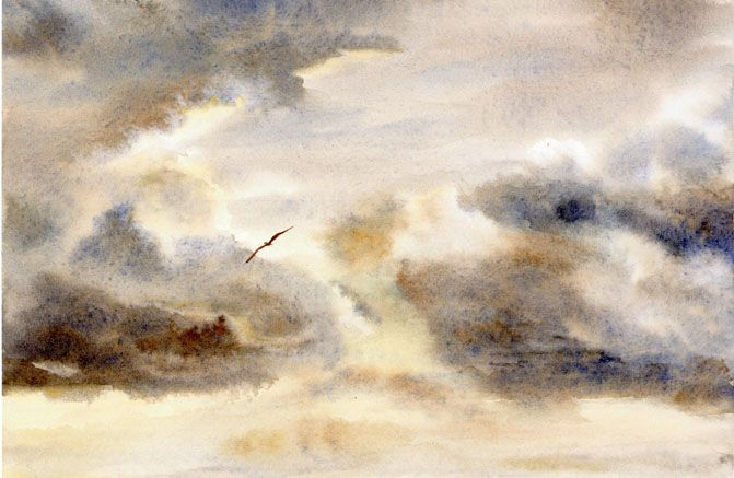 Images Storm Watercolor Painting To View Original Watercolor Paintings In Any Of These Categories Watercolor Clouds Painting Watercolor Paintings