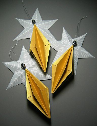 Diament Origami Ozdoby