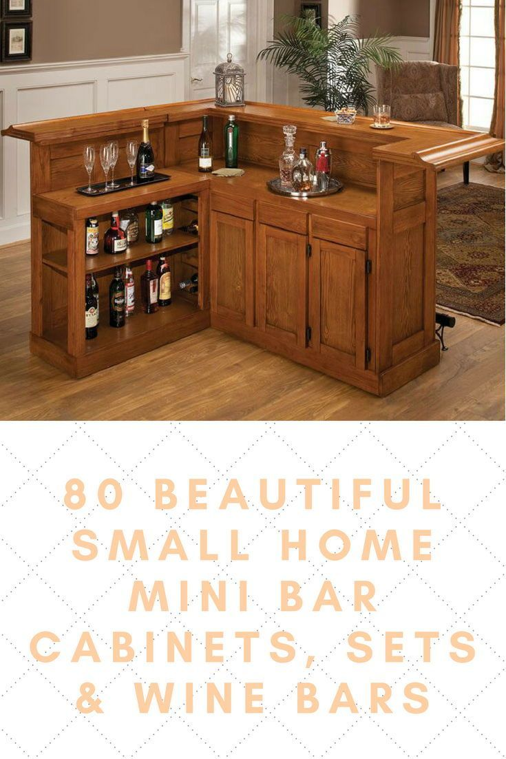 A Wood Mini Bar Is A Convenient Way To Save Space In Small Homes