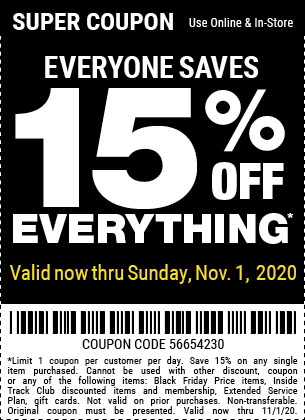 15 Off With No Exclusions Through Sunday Nov 1 In 2020 Harbor Freight Tools Retail Logos Tech Company Logos