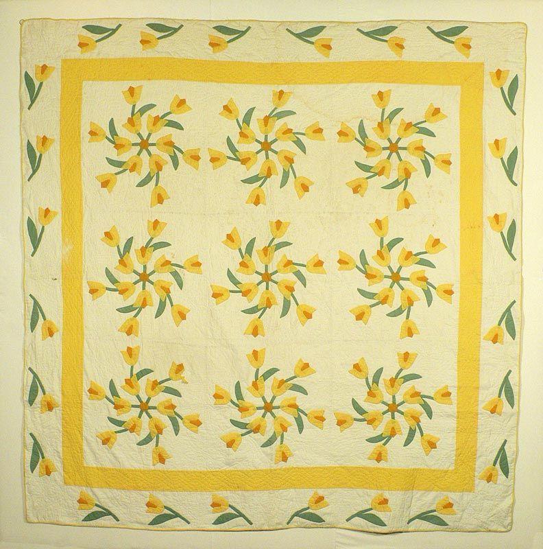 windblown tulip quilt | Quilts-applique | Pinterest | Applique ... : historical quilts - Adamdwight.com