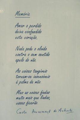 à Mercê De Inspirações Carlos Drummond De Andrade Poemas E