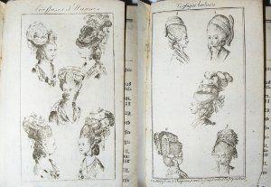 Hats of Germany, 1779 Coiffure mode, Coiffure et Perruque