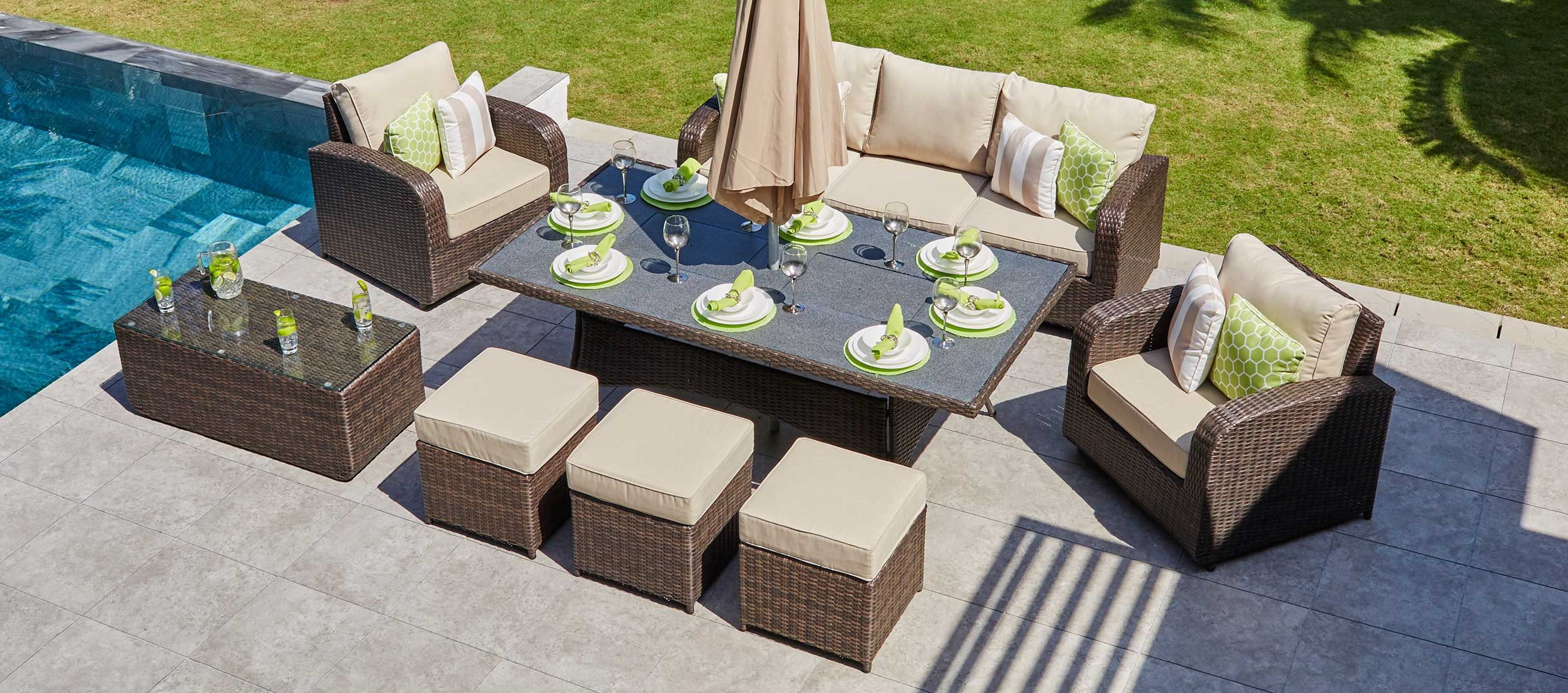 Windsor 15 - 8 seat sofa set and dining combo with ...