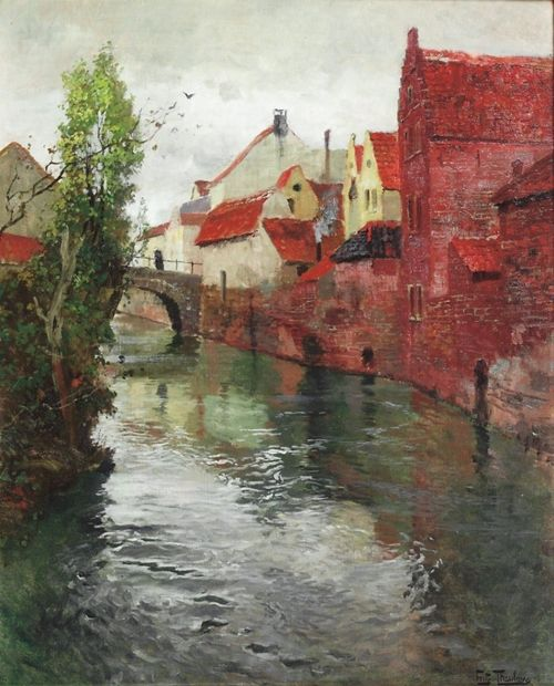 Spring, Frits Thaulow. Norwegian Impressionist Painter (1847 - 1906) //