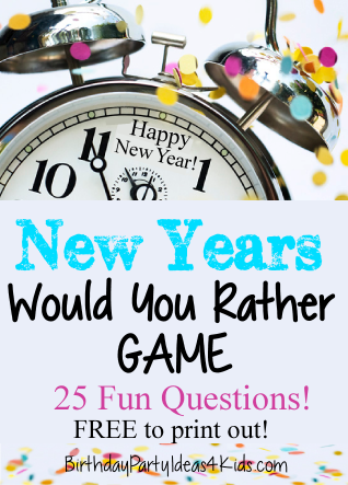 New Years Game! New Years Would You Rather Questions ...