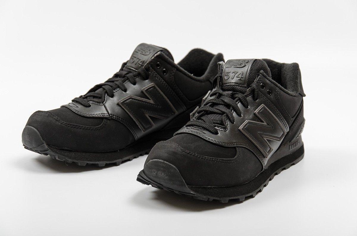new balance 574 black and gum