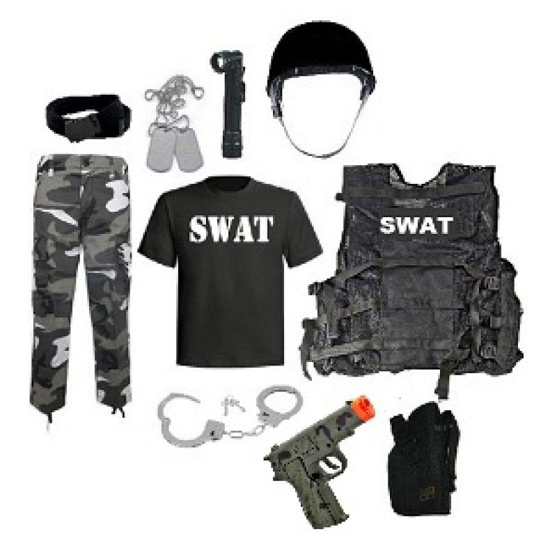 Kids Swat Team Leader Costume Kids Army Costume Police Costume