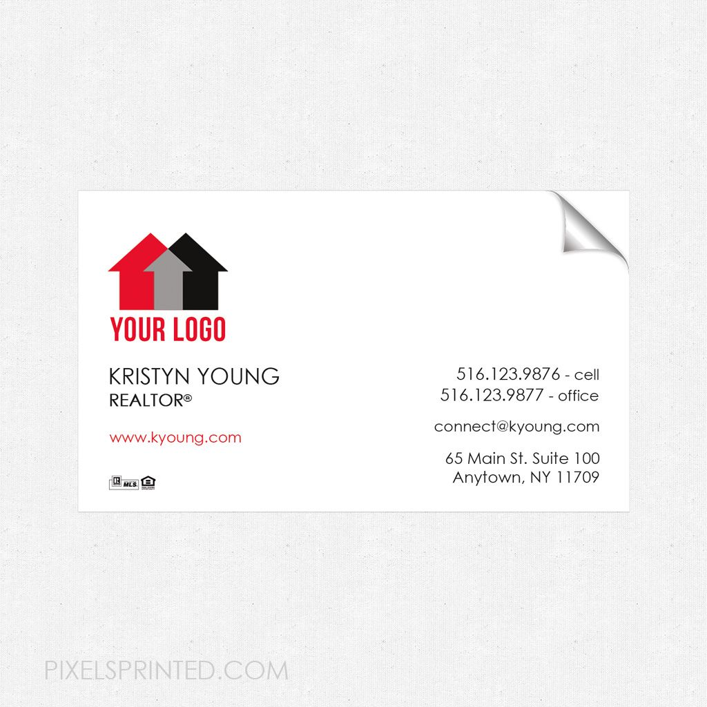 Real Estate Business Card Sticker Magnetic Business Cards Real Estate Business Cards Business