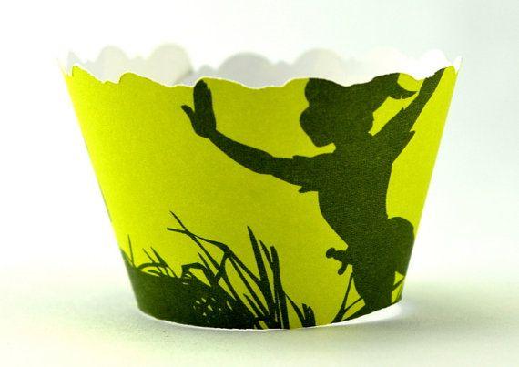 Peter Pan Cupcake Wrappers par DecadentIcing sur Etsy, $4.00