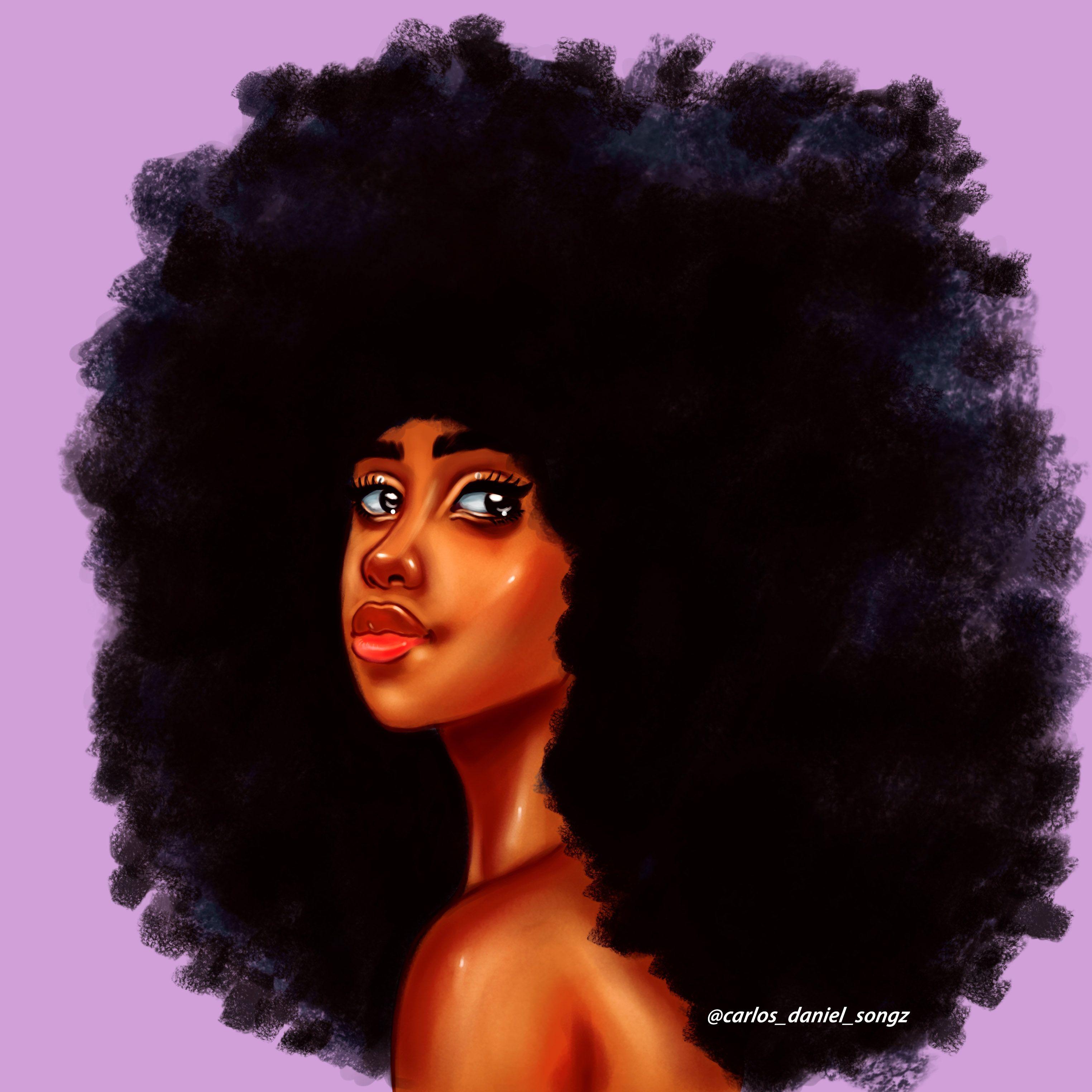 ARO GANG | Natural hair art, Afro painting, African women