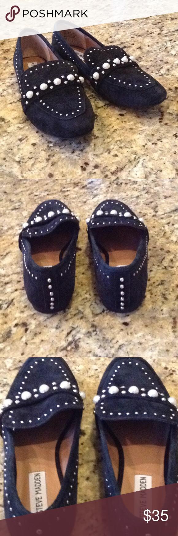 Steve Madden Perlyn Loafer Women/'s Black Size 8