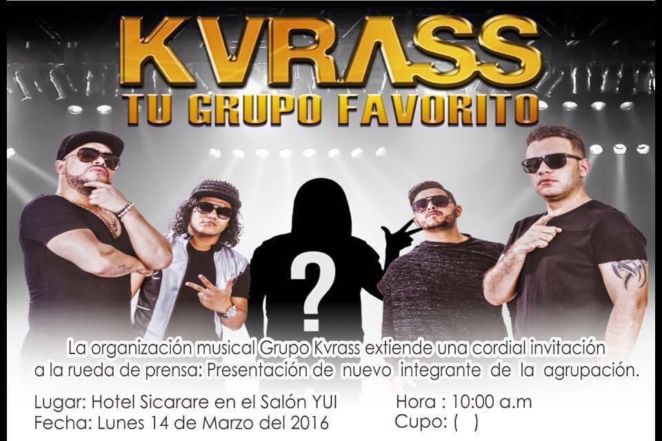 @KvrassGrupo extiende una cordial invitación a todos los medios de comunicación para la rueda de prensa en donde presentará a su nuevo integrante.  Ciudad: Valledupar by vallenateando.12