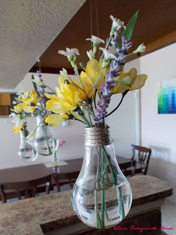 Tutorial On Making Light Bulb Vases Use Needle Nose Pliers To