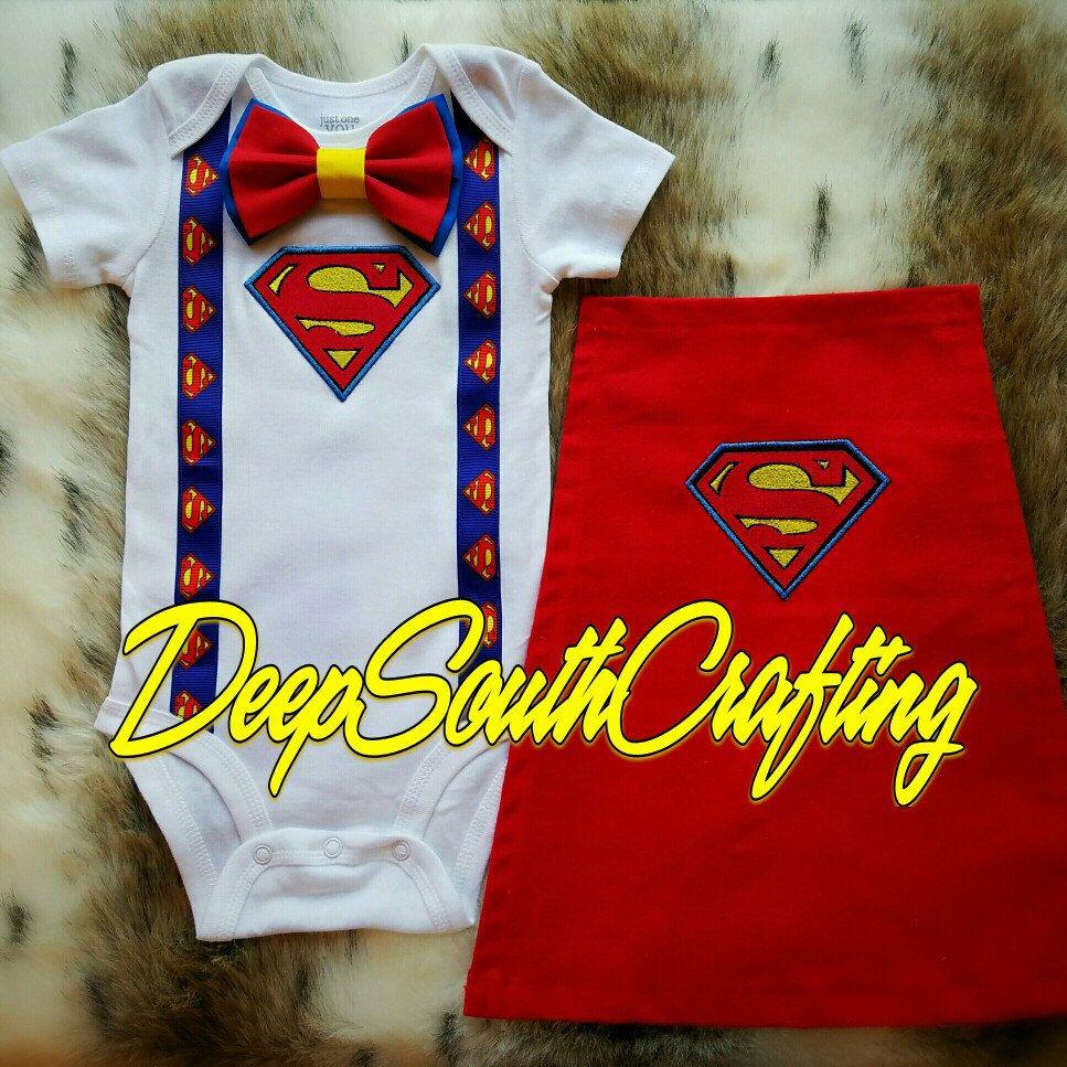 Boys birthday Boys Superman Birthday Outfit Superhero cape Boys first birthday outfit superman MizThings superhero party outfit
