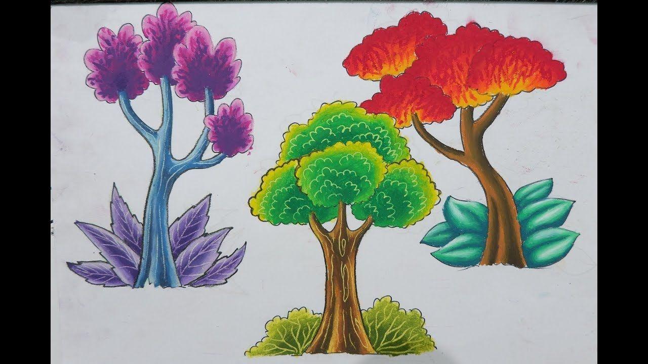 Cara Menggambar Dan Mewarnai Pohon Dengan Greebel Artist Oil