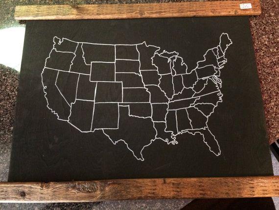 Usa Chalkboard Map Medium Usa Outline Map United States Map Usa