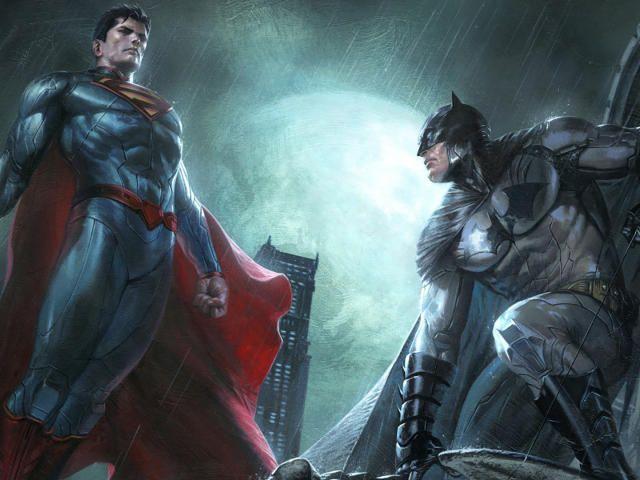 Superman And Batman Dc Comics Superheroes Artwork