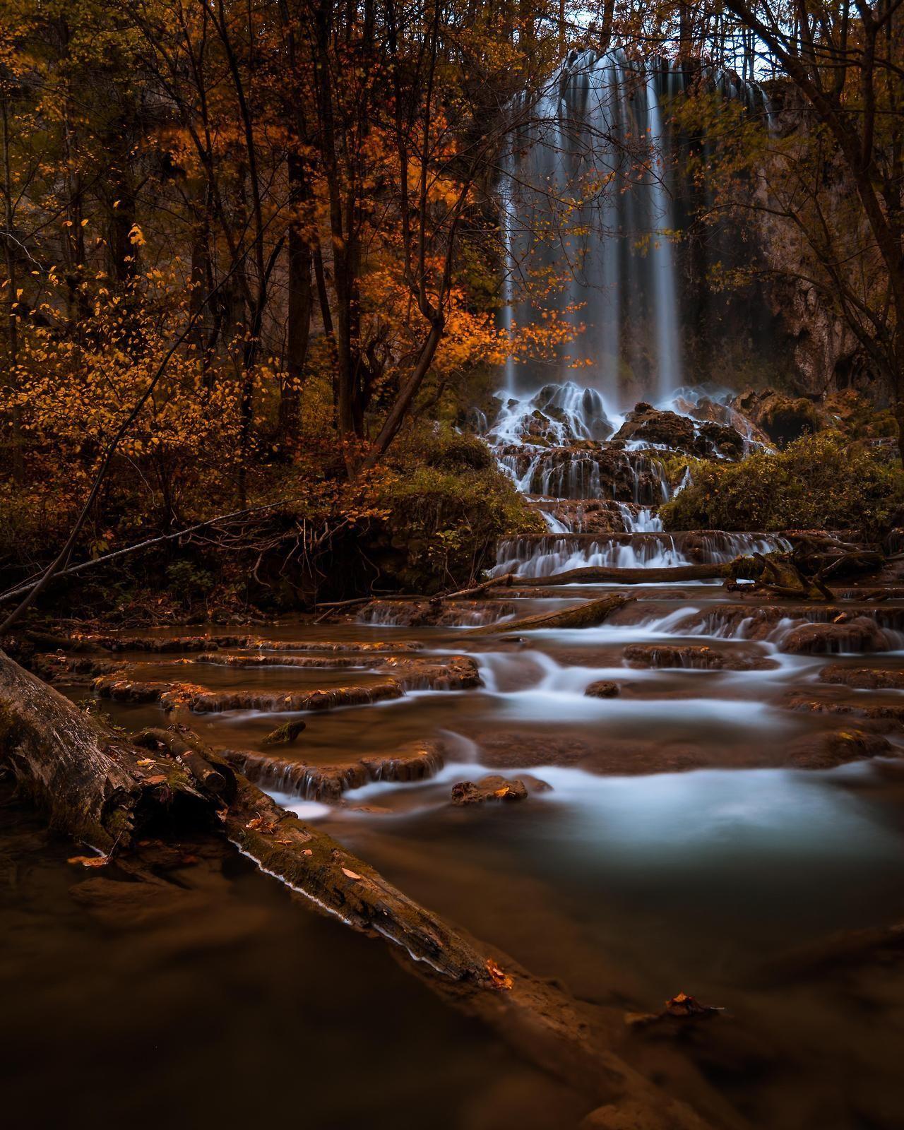 Fall Colors At Falling Spring Falls Near...