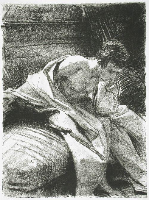 Franz Hermann Rowland Graphite Line Drawing Child Portrait