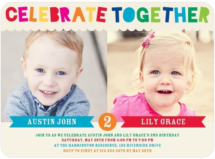 Best Tips Easy To Create Twin Birthday Invitations Ideas
