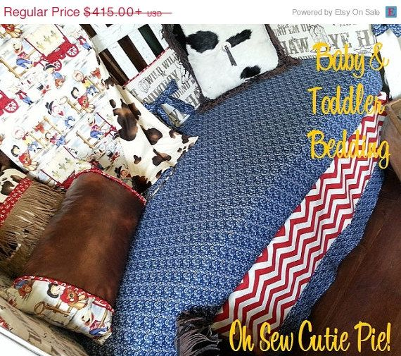 On Sale Western Cowboy Retro Baby Bedding With