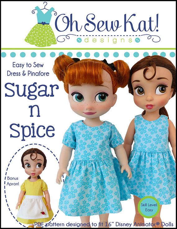 Sewing Pattern Doll Clothes For Animators Sugar N Spice Dress Inspiration Disney Sewing Patterns
