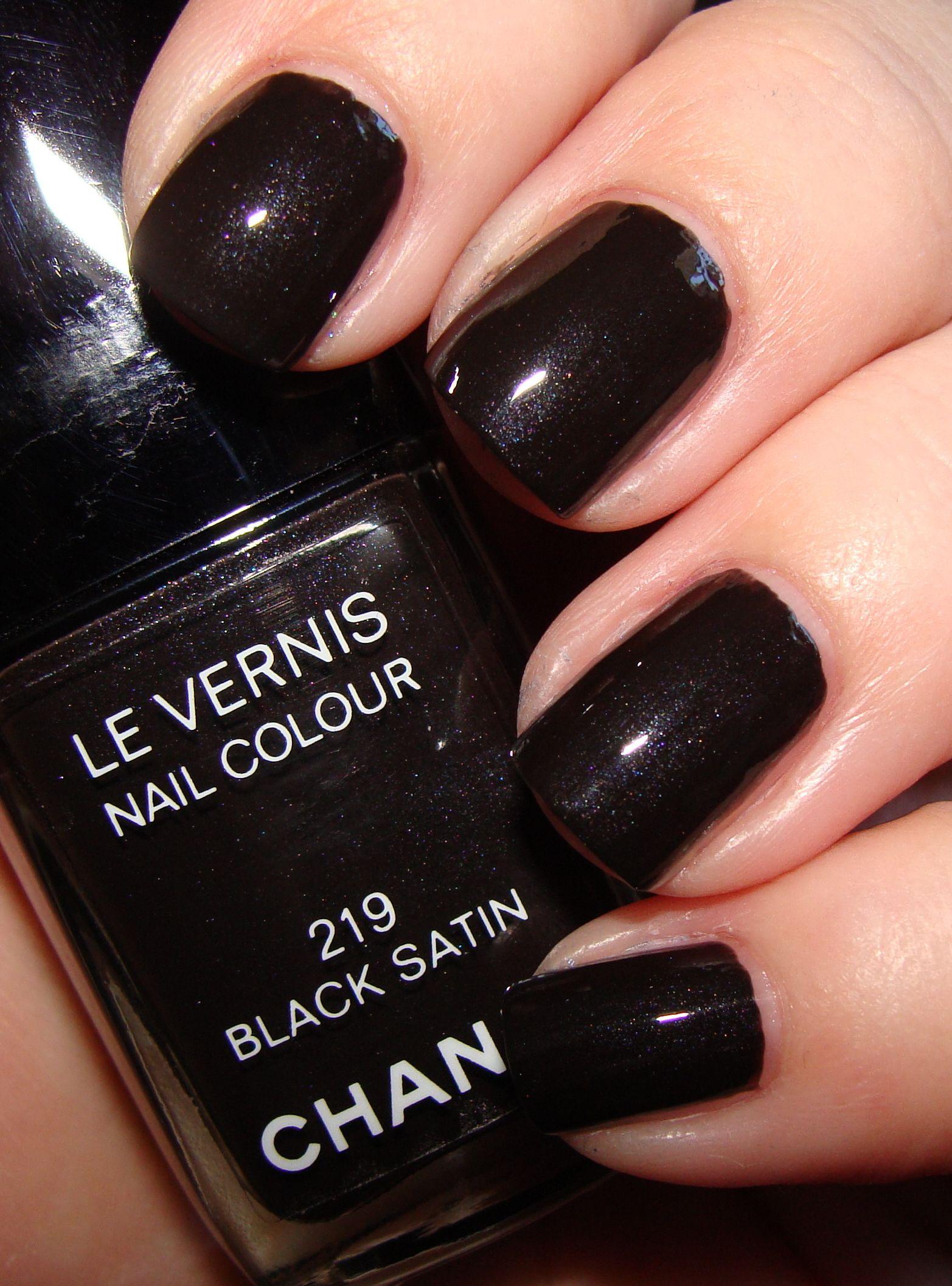 black satin #chanel - matte