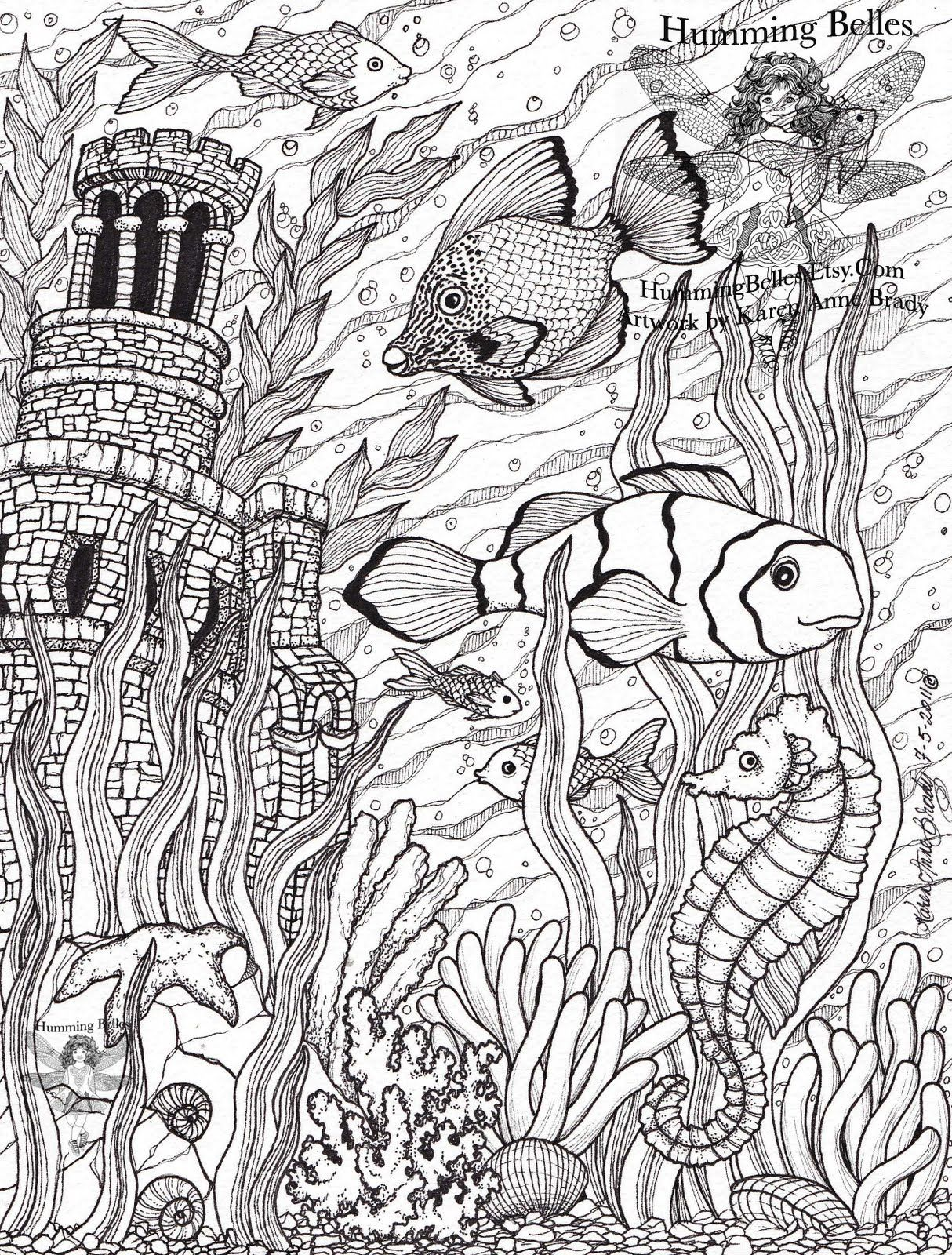 Colouring sheets hard - Intricate Coloring Pages For Adults Humming Belles